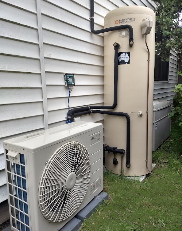Earthworker Heat Pump hot water system